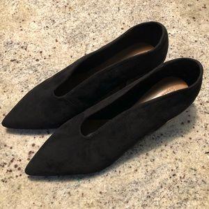 Zara Woman Shoes Black suede low heel 41 bootie